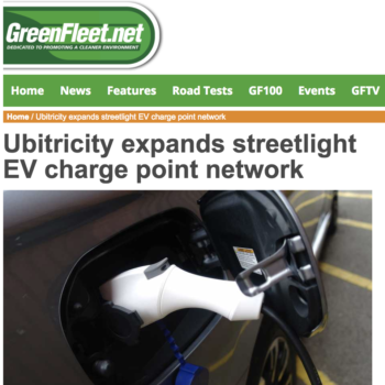 Ubitricity expands streetlight EV charge point network