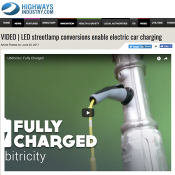 LED streetlamp conversions enable electric car charging