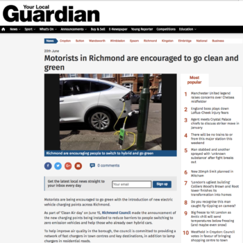 Motorists in Richmond are encouraged to go clean and green