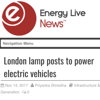 London lamp posts to power electric vehicles