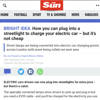 How you can plug into a streetlight to charge your electric car – but it's not cheap