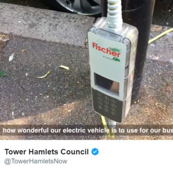 Video: New lamppost charger in Tower Hamlets